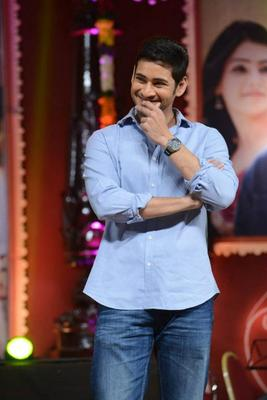 Mahesh Babu At SVSC Triple Platinum Disc Function