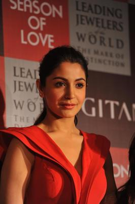 Anushka At The Launch Of Season Of Love Range By Gitanjali Jewels