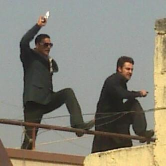 Akshay And Imran On The Sets Of Once Upon A Time In Mumbai 2