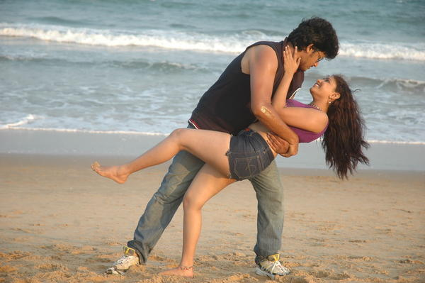 Rajesh And Amruthavalli Romance Photo Still From Telugu Movie Co Co