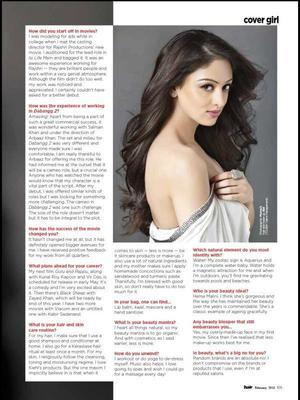 Sandeepa Dhar For Beauty Supplement Of Hair Magazine Feb 2013