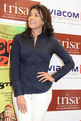 Kajal Agarwal Snapped At Movie Special 26 Promotion