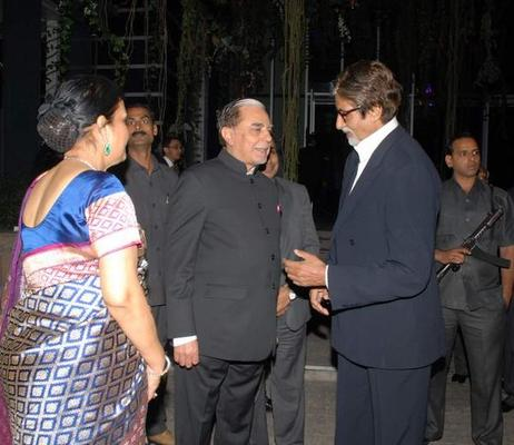 Amitabh And Subhash Snapped At 20th Anniversary Bash Of ZEE TV
