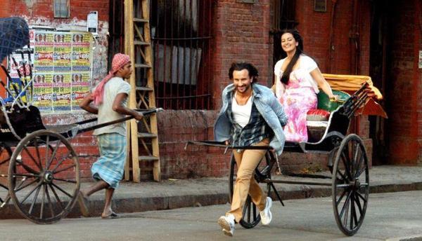 Saif Ali And Sonakshi On The Sets Of Bullet Raja