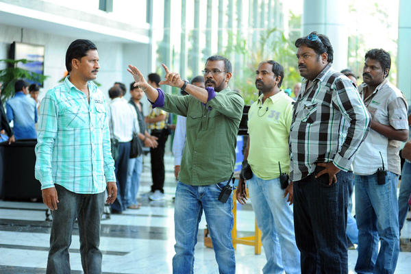 Director Meher Ramesh Direction Still On The Sets Of Shadow Movie