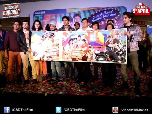 Ali Zafar,Taapsee,Siddharth,Sajid Ali,RJ Malishka And Divyendu Launch The Chashme Baddoor Music