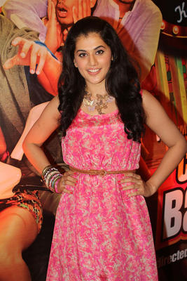Taapsee Pannu Strikes A Glamour Look Pose At Chashme Buddoor Audio Launch Event