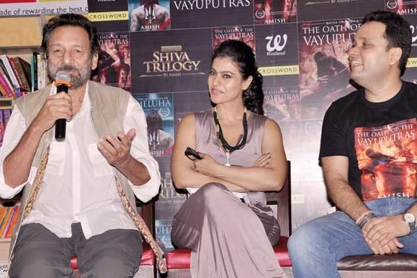 Shekhar,Kajol And Amish Speak Out Photo Clicked At The Launch Of The Oath Of The Vayuputras Book