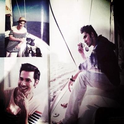 Varun Dhawan Cool Look In Yacht Photo Shoot For Filmfare 2013