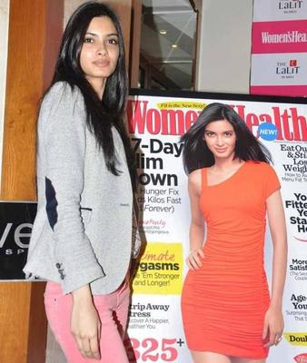 Diana Penty Launches Womens Health Magazine New Year Double issue Cover