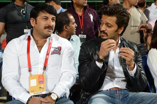 Riteish Deshmukh At The CCL 3 Final Telugu Warriors Vs Karnataka Bulldozers Match Event