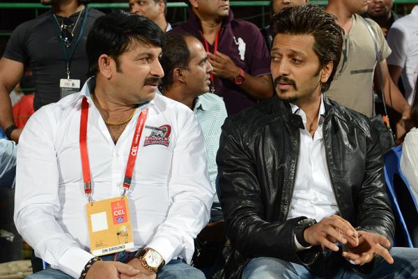 Riteish Deshmukh During The CCL 3 Final Telugu Warriors Vs Karnataka Bulldozers Match Event