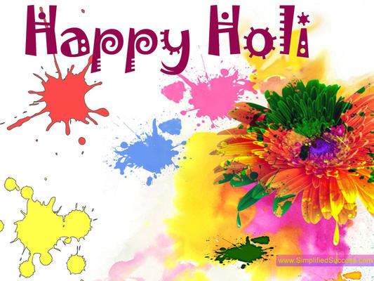 Happy Holi Greeting Photo Wallpaper