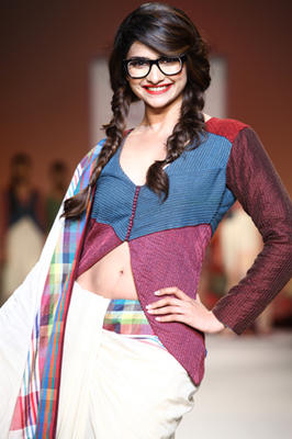 Prachi Desai Walks For Shruti Sancheti At Lakme Fashion Week
