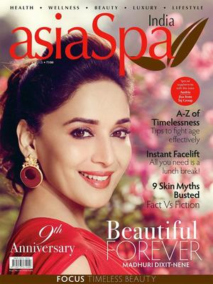 Madhuri Glamour Look Photo On The Cover Of Asia Spa Magazine India April 2013