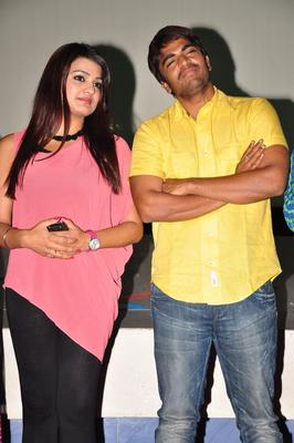 Srinivas And Tashu Spotted At Gola Seenu Press Meet