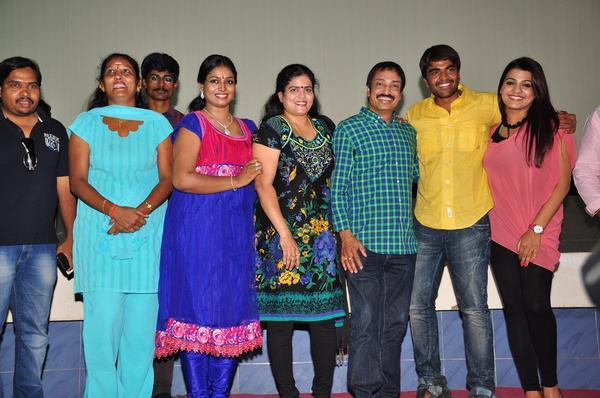 Srinivas,Tashu,Raj Kandukuri And Jayavani Posed For Camera At Gola Seenu Press Meet