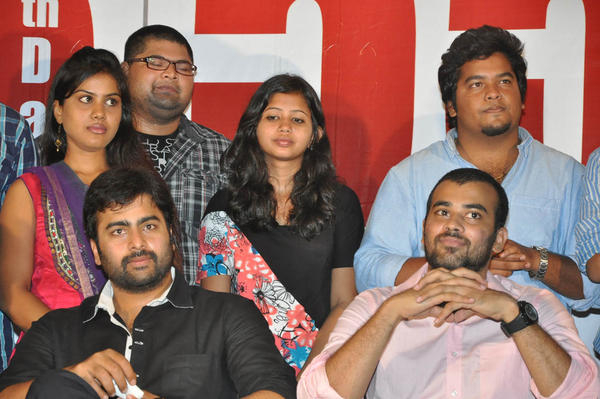 Nara Rohit With Team Posed For Camera At 3G Love 25 Days Celebrations Press Meet