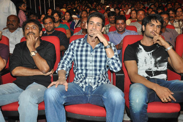 Srinu Vaitla,Mahesh Babu And Sudheer Babu Enjoy The Programme At Prema Katha Chitram Audio Release Function