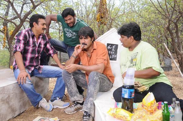 Srikanth Smoking Still From Raja Rajeswari Pictures Movie