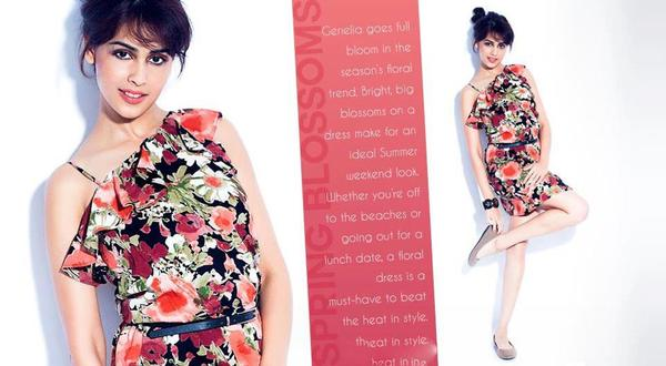 Genelia Photo Shoot For Myntra Star N Style Magazine April 2013