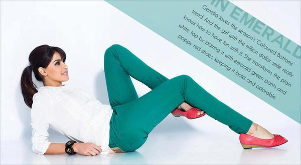 Genelia D'Souza Hot Look Photo Shoot For Myntra Star N Style Magazine April 2013