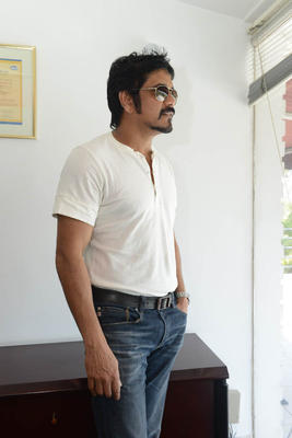 Nagarjuna Latest Stills At Greeku Veerudu Movie Interview