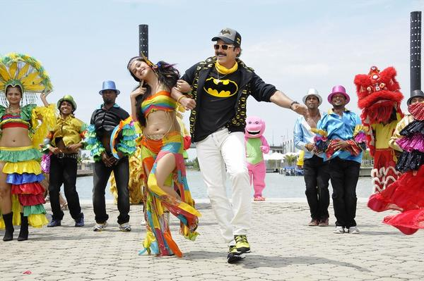 Taapsee And Venkatesh Cool Dance Pose Still From Shadow Movie