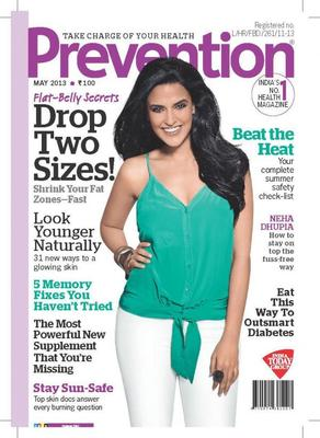Candid And Curvy Neha Dhupia On The Cover Of Prevention May 2013