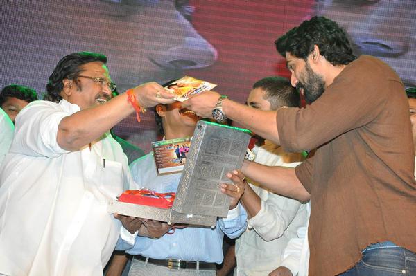 Dasari Narayana Present The Audio Copy To Rana At Something Something Audio Launch Function