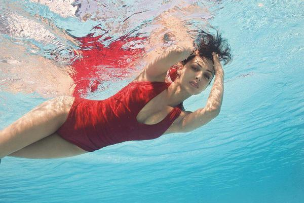 Malaika In Red Swimshoot For Online Shopping Website The Closet Label