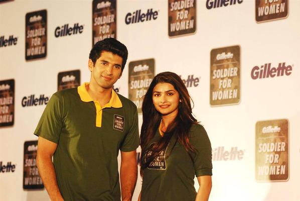 Aditya Roy Kapur,Prachi,Arbaaz And Mandira At A Gillette Event