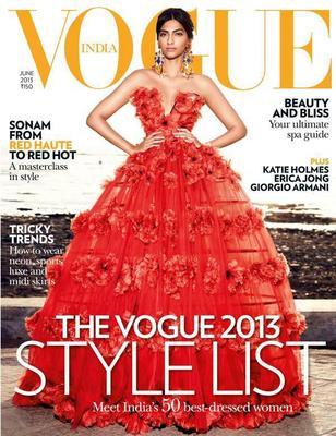 Fashionista Sonam Kapoor On Vogue India June Issue 2013