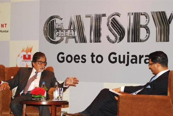 Amitabh At The Press Conference Of The Great Gatsby In Gujarat
