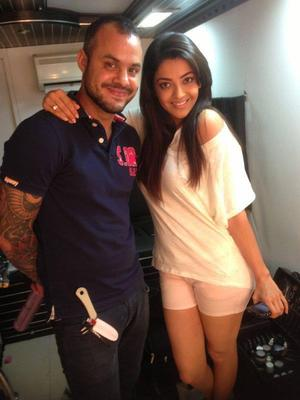 Kajal Aggarwal On The Sets Of A Covershoot