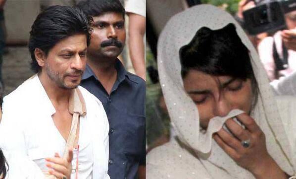 King Khan At The Funeral Of Priyanka Chopra's Father