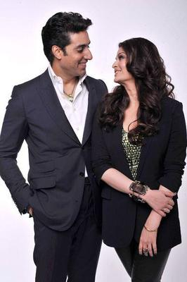 Abhishek With Wife Aishwarya Cool Smiling Pose Photo Shoot For Chime For Change Concert