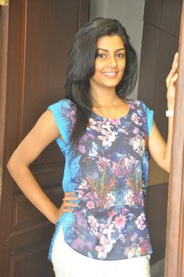Glomour Anisha Ambrose Pose For Camera At The Pressmeet Event Of Areyrey Telugu Movie