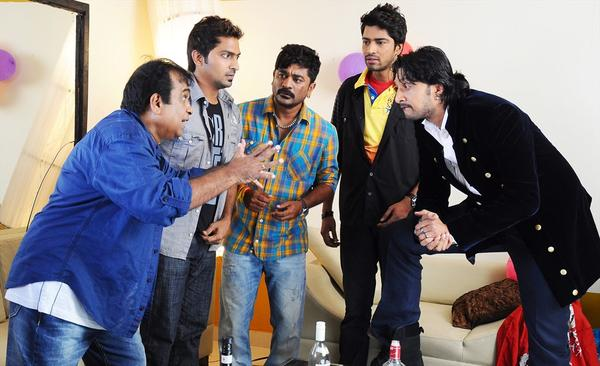 Brahmanandam A Fun Still From The Movie Action 3D