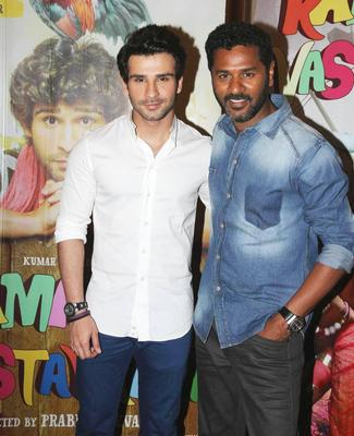 Prabhu Deva With His Main Lead Girish Kumar Promoted The Film Ramaiya Vastavaiya
