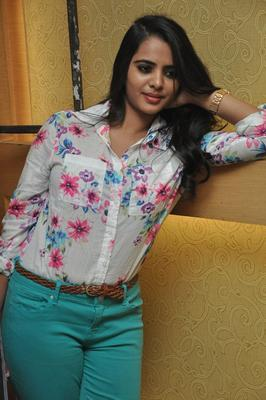 Telugu Actress Manasa New Stills At Romance Movie Press Meet