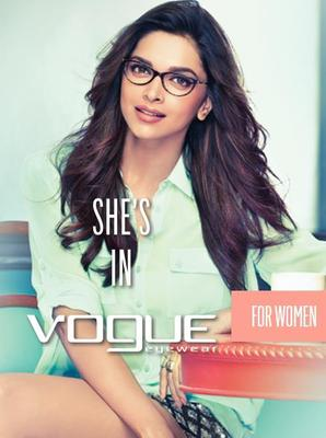 Deepika Sweet Cool Pic On The Cover Of Vogue Eyewear 2013
