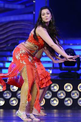 Charmi Kaur Sexy Dance Pic During The Show Of Cine Maa Awards 2013
