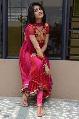 Kimaya Latest Cute Stills In Pink Chudithar At Music Magic Logo Launch