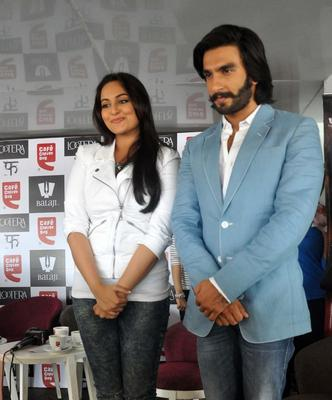 Sonakshi And Ranveer At Cafe Coffee Day For Promoting Their Movie Lootera