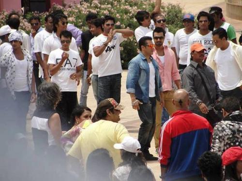 Salman Khan On The Shooting Sets Of Mental