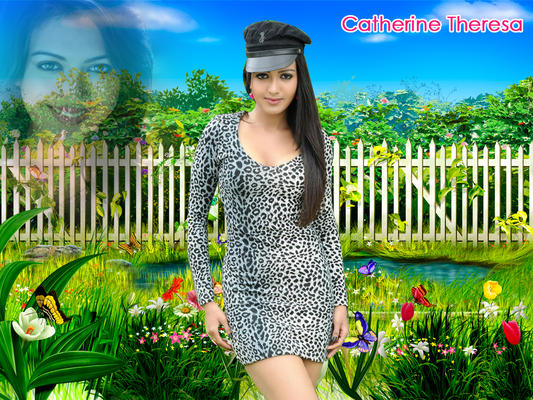 Catherine Tresa Glamour Hot Look Wallpaper Photo Still