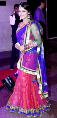 Stunning TV Actress Nidhi Uttam Arrives At The Wedding Of Shweta Tiwari And Abhinav Kohli