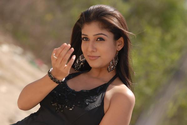Telugu Actress Nayanthara Hot In Black Dress Photo Stills