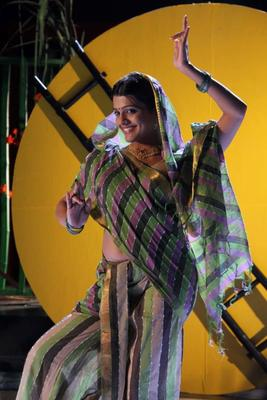 Tashu Kaushik In Village Girl Dress Dancing Pose Hot Look Still